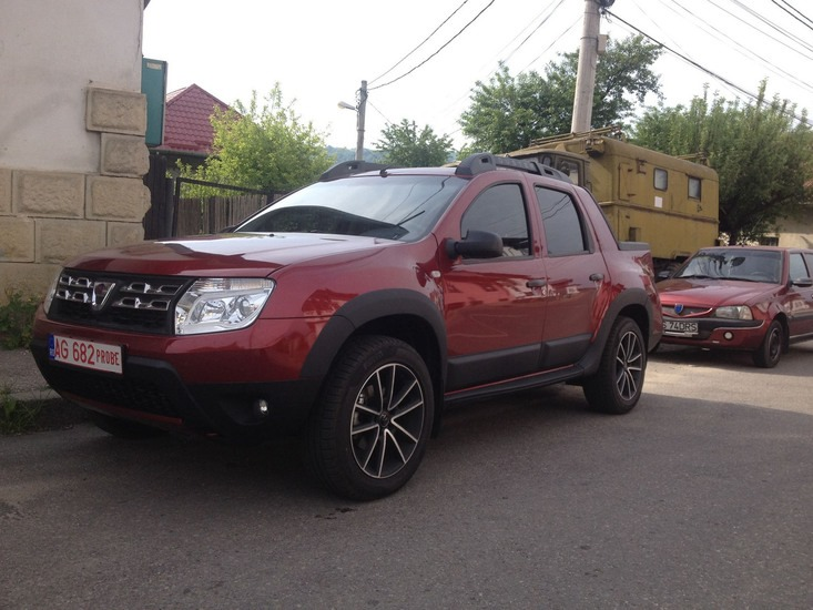 dacia duster pick up tested in romania. Black Bedroom Furniture Sets. Home Design Ideas